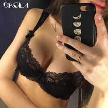 New Women Underwear Sexy Bra Set Plus Size Hollow Out Unlined Black Lingerie Set Transparent Lace Bra And Panties Set Embroidery - DISCOUNT ITEM  51% OFF All Category