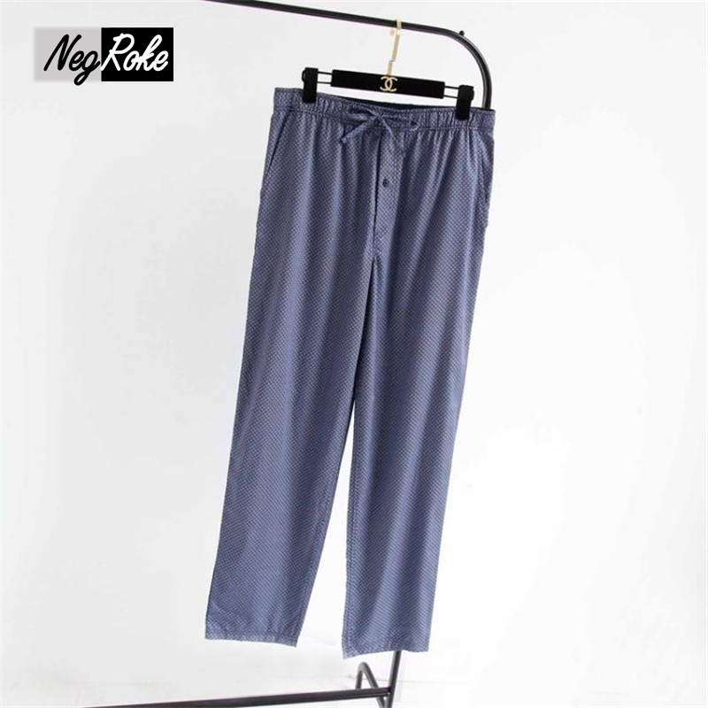 New Casual summer 100% cotton pajama bottoms men comfort mens sleepwear trousers plaid pijamas sheer mens lounge pants