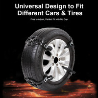GLCC 4PCS Snow Chains Universal Car Anti Skid Tire Chain 165 275mm Tyre Winter Roadway Safety Tire Climbing Mud Ground Anti Slip