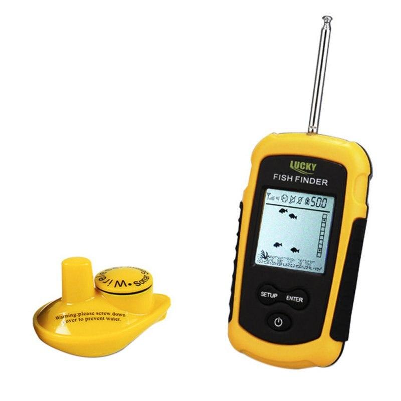 цена на Outdoor Portable 40m Depth Range FFW1108-1 Wireless Fish Finder Fishfinder 40m Depth Range Ocean Lake Sea Fishing
