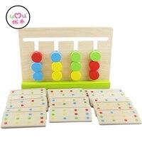 משחקי צעצועי משחק חינוכי צעצועים במתמטיקה מונטסורי מונטסורי התאמת צבעים במתמטיקה מונטסורי UB0764H משחק ארבעה צבעי חומרים