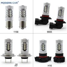 MODERN CAR Fog Lamp Bulbs 6000K White H15 H16 H4 H7 H8 H9 H11 9005 9006 1157 1156 Auto Headlight 2828 16SMD Side Fog Lights modern car h8 h11 h4 h7 h1 1156 1157 t20 9005 9006 led fog lamp bulbs super bright fog lights driving car light source 6000k
