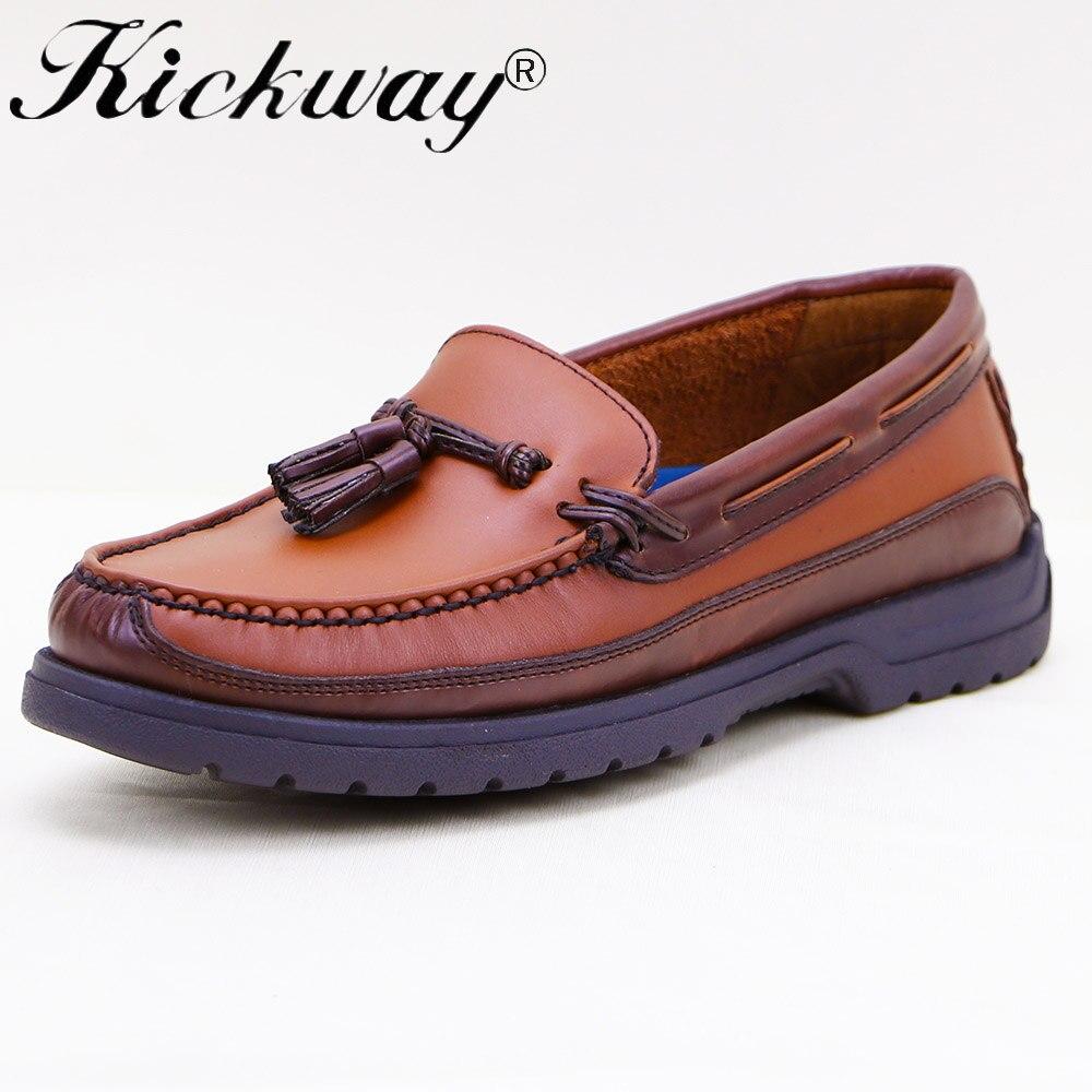 Kickway/мокасины ручной работы, большие размеры 11, 12, модные мужские мокасины из натуральной кожи, повседневная обувь без застежки