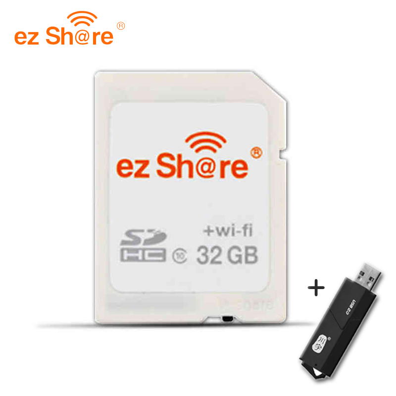 EZ share 8GB 16GB SD Card Wireless WIFI Share Memory SD Card 32GB Class 10 SDHC Free card reader Shipping sony hxr mc2000u shoulder mount avchd camcorder 8gb sdhc memory card