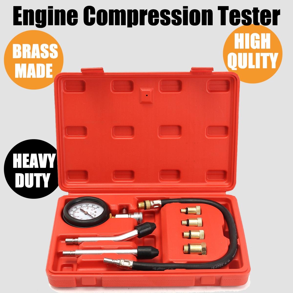 0-300 PSI Compressor Gauge Meter Test Pressure Compression Tester Petrol Gas Engine Cylinder Leakage Diagnostic Car Tool