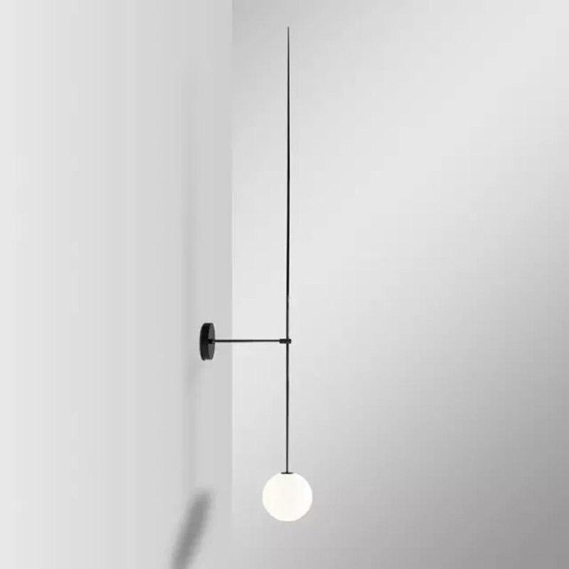 Nordic Danimarca Palla di Vetro Lampada Da Parete Soggiorno Moderno Lampada Da Parete Vintage Applique Da Parete Camera Da Letto Illuminazione Casa Coperta