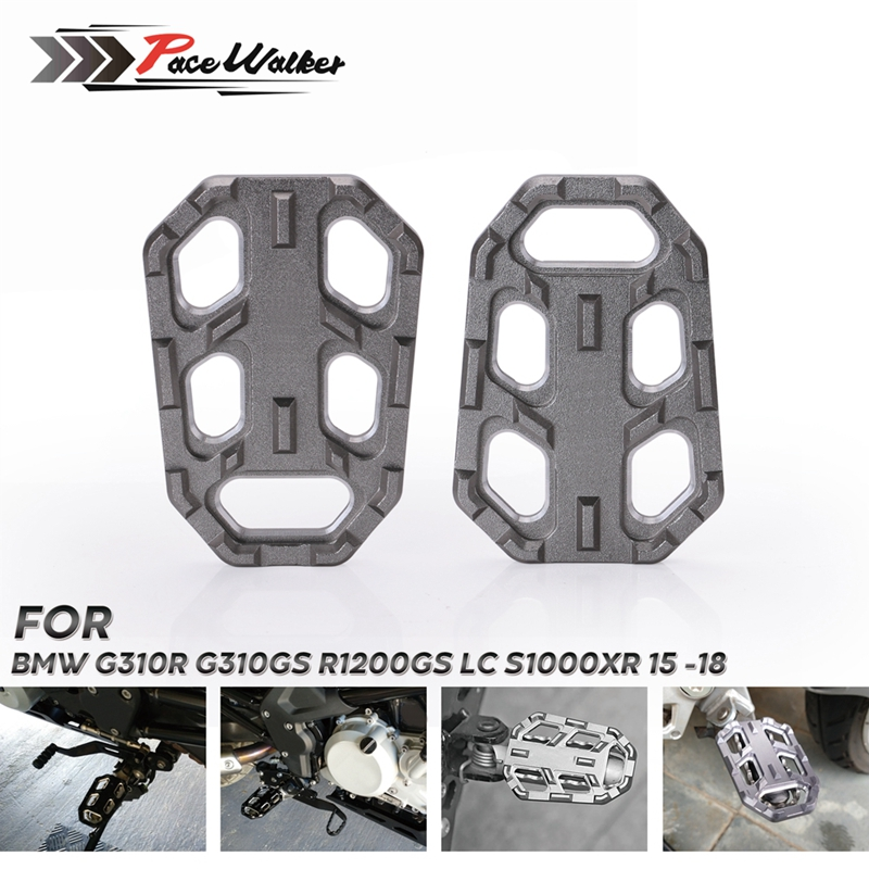 Motorcycle Wide Foot Pegs Pedals Rest Footpegs Billet For BMW <font><b>G310R</b></font> G310GS R1200GS LC S1000XR image