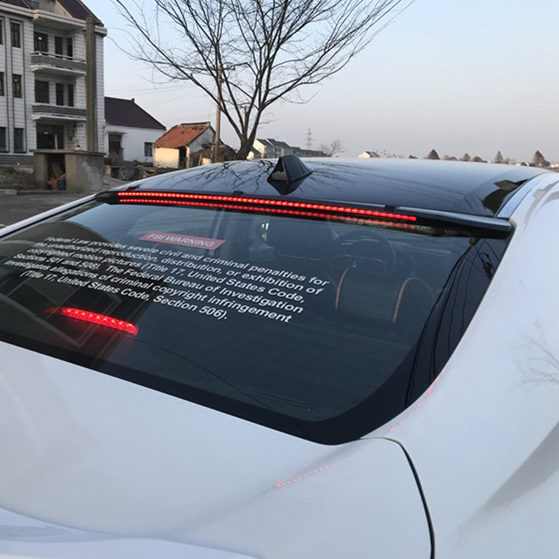 For Honda Civic Spoiler 10th 2016 2017 Car Styling ABS black Rear Trunk Wing Boot Lip Roof Spoiler Decoration(China)