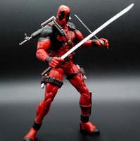 Super Hero Deadpool Top Figure Toys With Scene 2016 New Anime X men Ultra Movable Deadpool Toys For Children Gifts 141
