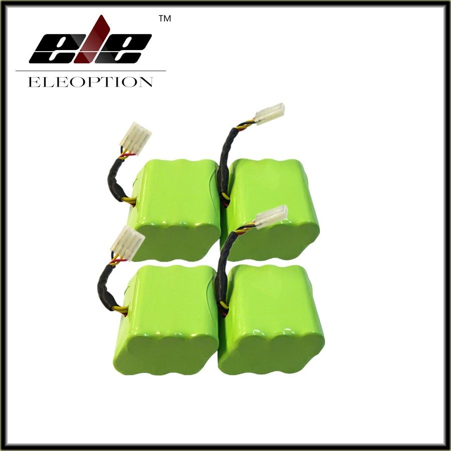 Eleoption 4pcs 7.2V 4000mAh Battery For Neato XV-11 XV-12 XV-15 XV-21 Signature Pro Robotics Free Shipping