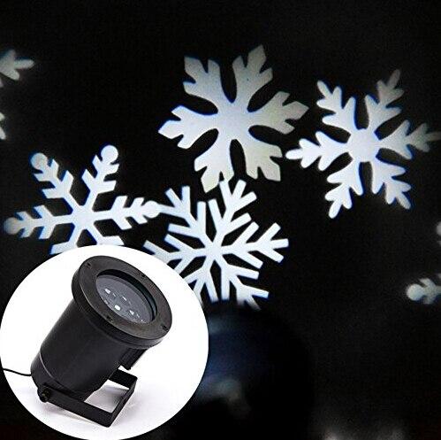 Xmas White Snow Sparkling Landscape Projector Outdoor Decor Spotlights Garden Tree Wall Decoration Led Light for Holiday цена