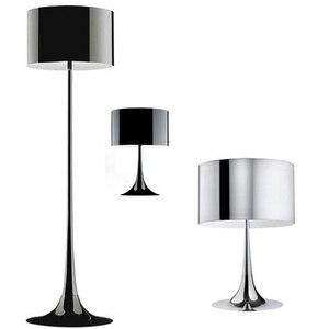 Dia.39cm h170cm branco/preto moderno ferro forjado lâmpada de assoalho sala estar suporte lâmpadas alumínio led luz escritório quarto casa FL-11