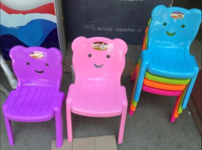 For 1-2 Years Children Cute Little Bear Kindergarten Chairs Safety Thicken Small Stool