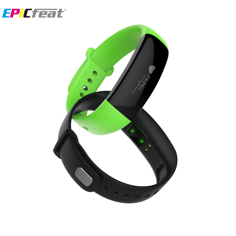 EPiCfeat Heart Rate Wristband for Android iOS phone Pedometer Sleep Tracker Fitness Bracelet Fitbit Waterproof M88