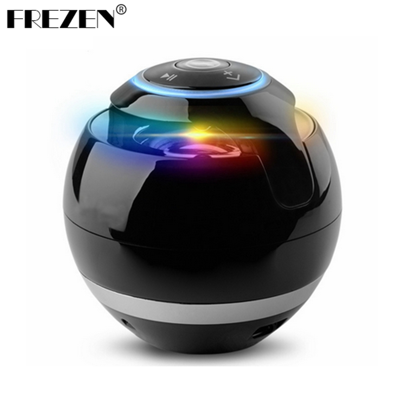Portable Column Bluetooth Speaker Wireless Ball Mini Handfree TF FM Radio With Mic MP3 Globe Audio Sound box For the Phone PC portable mini led bluetooth speakers wireless small music audio tf usb fm light stereo sound speaker for phone xiaomi with mic
