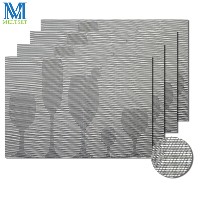 4pcs/Set Dining Table Mats Waterproof Vinyl Placemats for Tables Easy to Clean 45x30cm