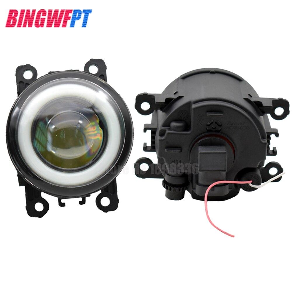 2x Super Bright LED Fog Light With Angel eye white light For Nissan Xterra 2005 2015