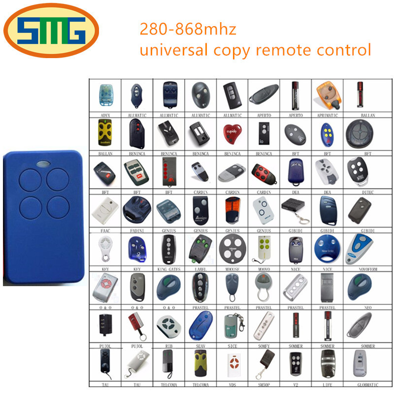 10pcs Multi-frequency copy DOORHAN Garage door gate replacement Remote Control Clone duplicate gate remote control free shipping ...