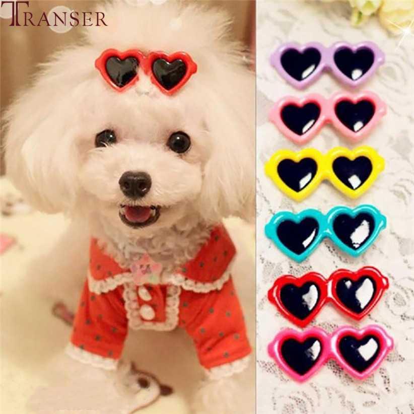 Transer/10 шт./партия, милые Солнцезащитные очки с сердечком, заколки для волос для собак, кошек, собачья шерсть, аксессуары 80427, Прямая доставка