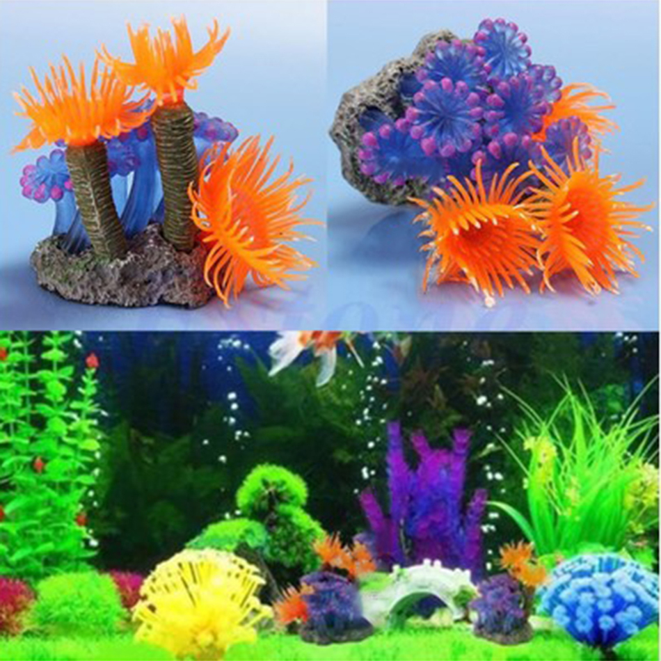 Aquarium decoration simulation coral plastic resin sea for Aquarium coral decoration