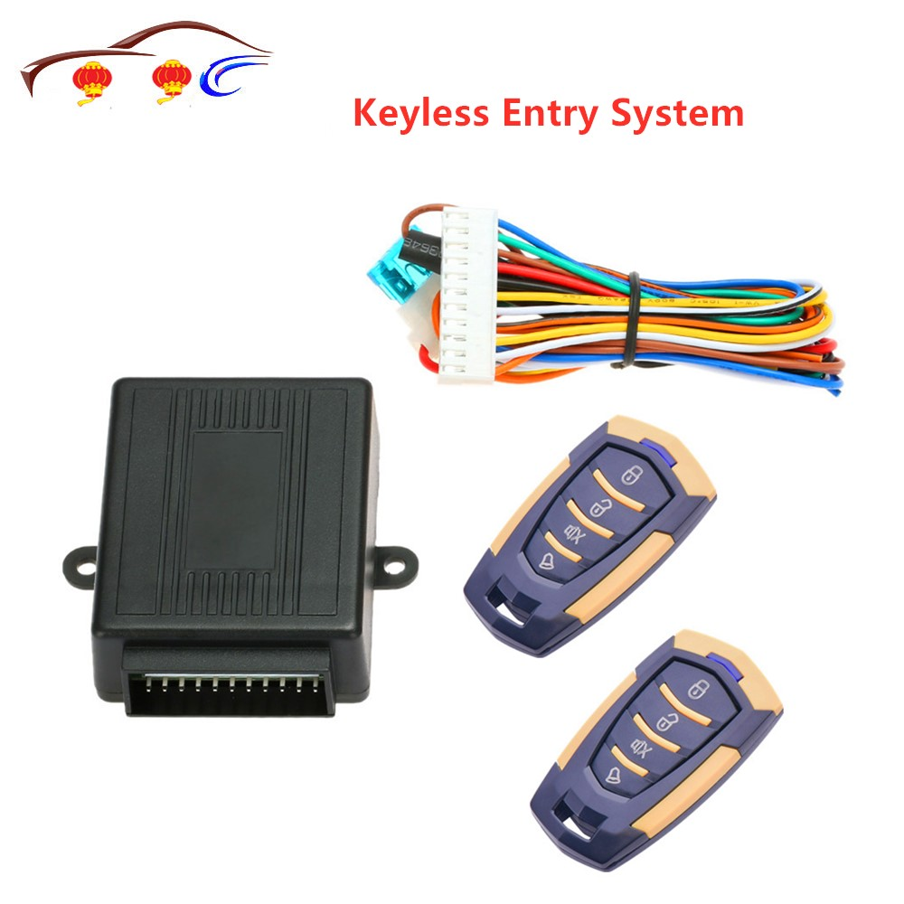 2019 Hot Sale Keyless Entry System 433MHz 12V <font><b>Car</b></font> Auto Alarm <font><b>Remote</b></font> Central Door Locking Vehicle Keyless Entry System Kit image