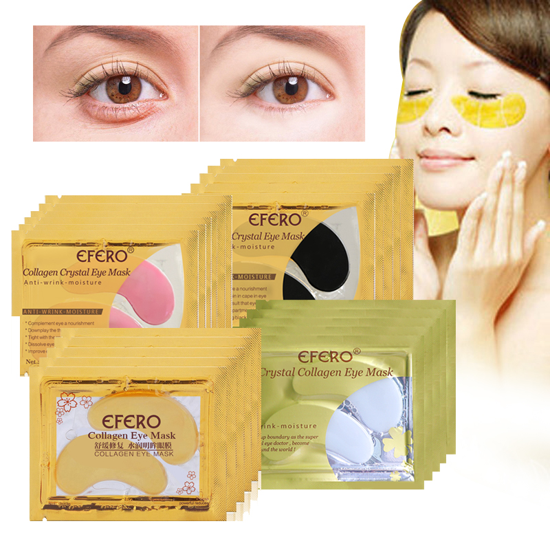 5pcs Collagen Crystal Eye Mask Eyelid Care Patch Pad Moisture Anti-Wrinkle Beauty