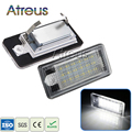 2Pcs Car LED License Plate Lights 12V SMD3528 Number Plate Lamp Bulb Kit For Audi A6 c6 Q7 A4 b7 A4 b6 8E A3 S3 A8 S8 S6 RS4 RS6
