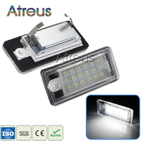 2x Error Free LED License Plate Lights 12V White 18 LED SMD3528 Number Plate Lamp For