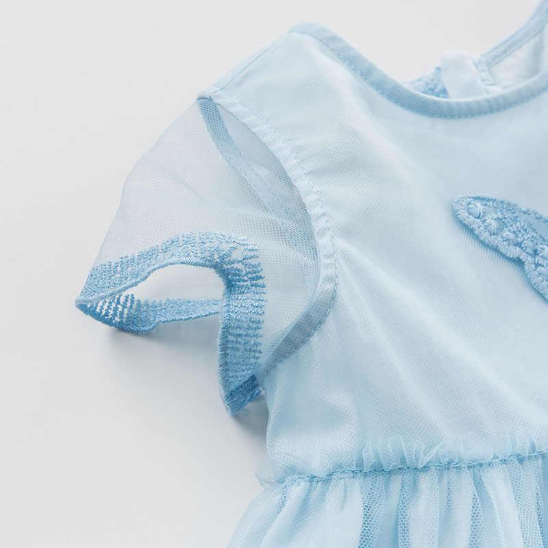 DB10141 dave bella/Летняя одежда с вышивкой в стиле Лолиты для маленьких девочек детское платье для дня рождения и свадьбы эксклюзивные Детские платья