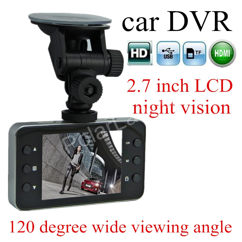 IR Night vision Full HD 1080P K6000 Car DVR Video Camera Recoder HDMI motion Detection 120 degree wide viewing angle
