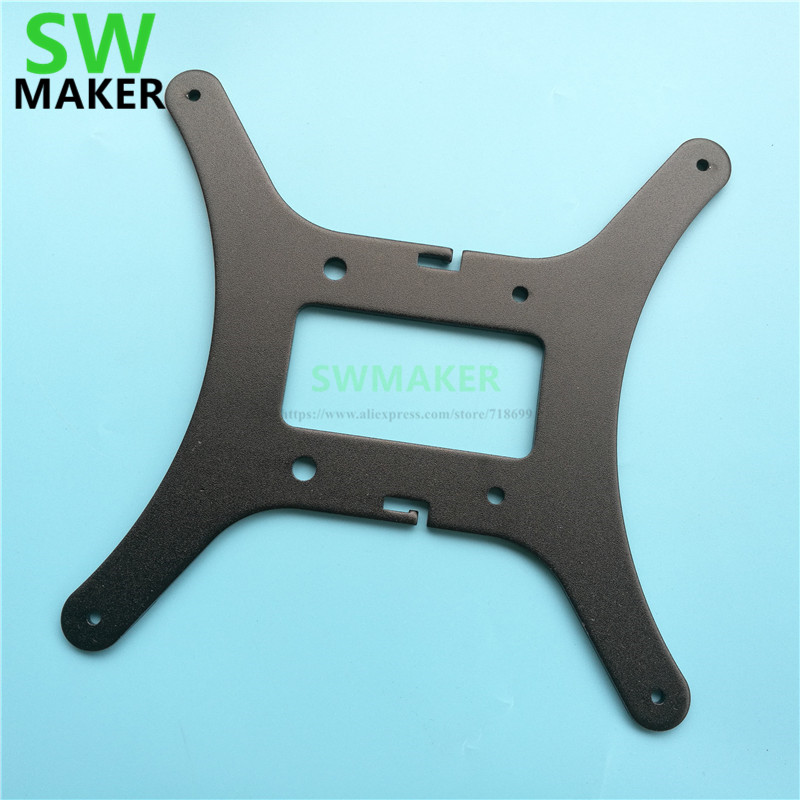SWMAKER New Black Ender-3 Hotbed Y Carriage Plate For Creality Ender-3 Ender-3s 3D Printer Heated Bed 2040 Aluminum Profile