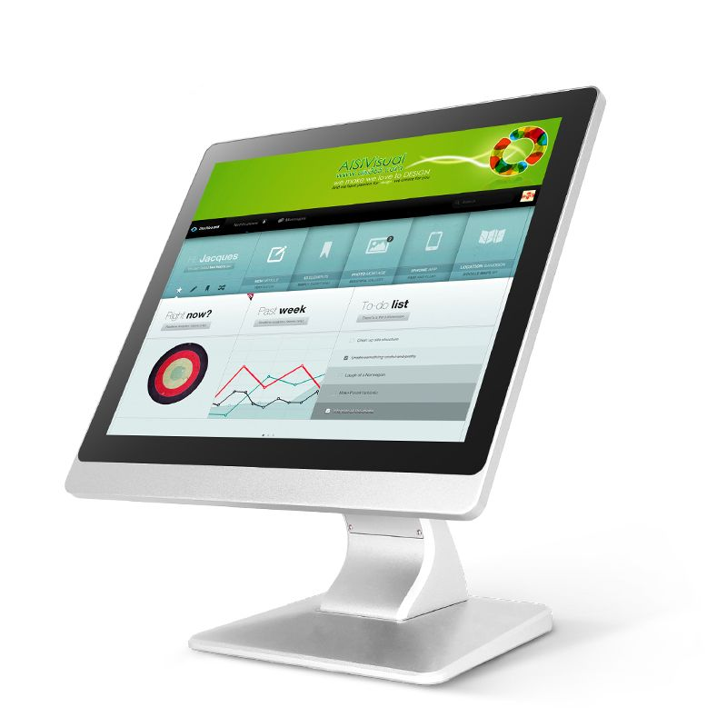 High End WINWO 15 Inch Resistive Touch Screen Industrial Computer 4USB 1*Lan With J1900 Quad Core