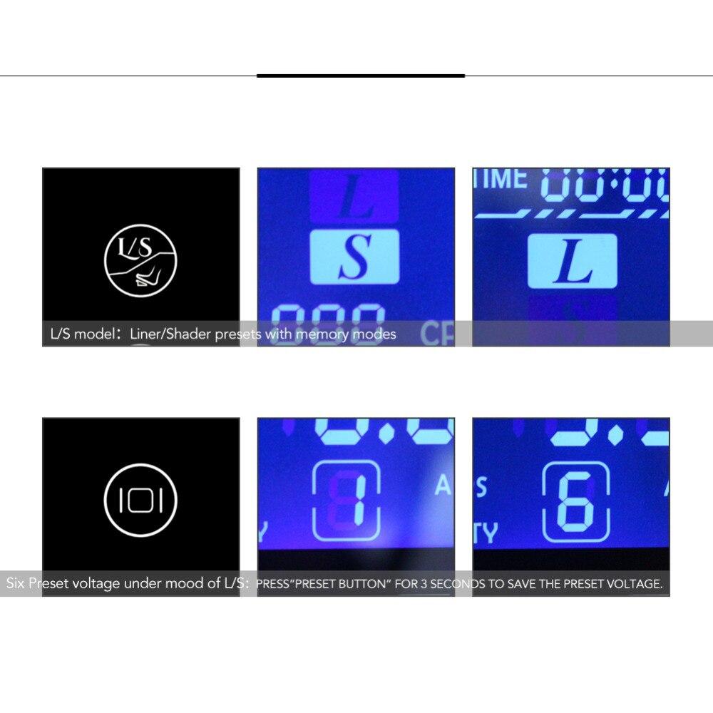Tatuaje fuente de alimentación HP-2 Huracán de actualización de la pantalla táctil de TP-5 inteligente LCD Digital maquillaje Dual tatuaje suministros de energía conjunto - 3