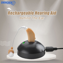 Rechargeable Hearing Aids Sound Amplifier Behind Ear Audiphone For Deaf Elderly Hearing Aids Ear Care