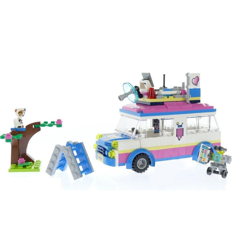 Lepin 01057 Toys Girls Series The LegoINGlys 41333 Mission Vehicle Set Building Blocks Bricks Funny New Birthday Gifts Kid Toys ynynoo lepin 02043 stucke city series airport terminal modell bausteine set ziegel spielzeug fur kinder geschenk junge spielzeug