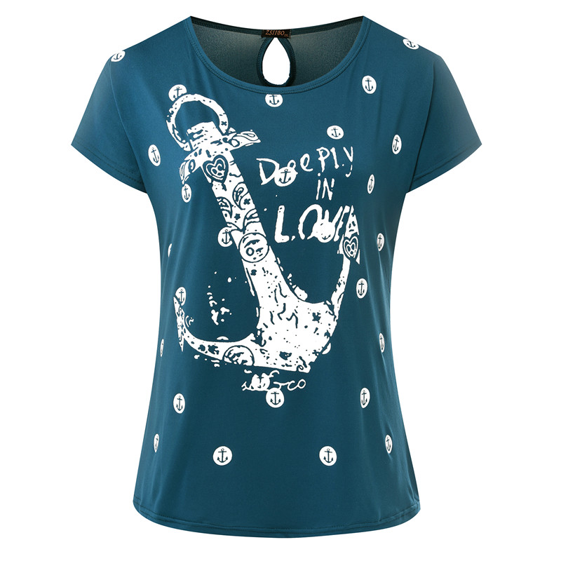 Zsiibo summer tops tee ladies short t shirt women boat for South bay t shirt printing
