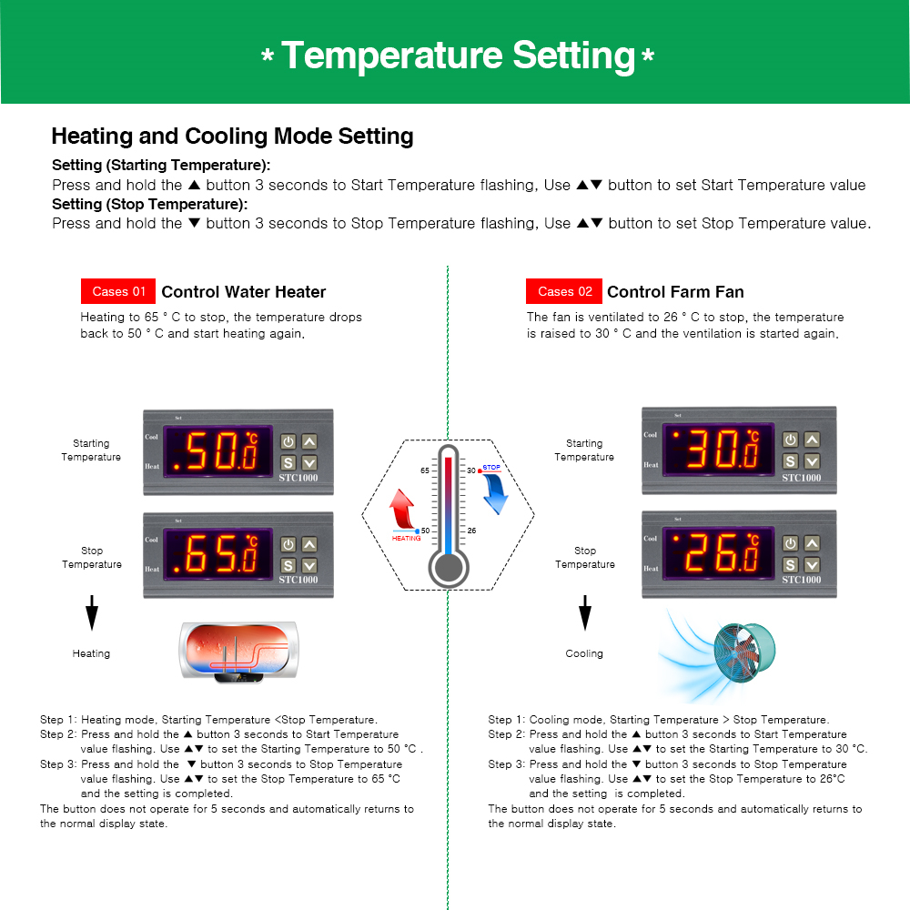 HTB1fOPwMMHqK1RjSZJnq6zNLpXan STC-1000 STC 1000 LED Digital Thermostat for Incubator Temperature Controller Thermoregulator Relay Heating Cooling 12V 24V 220V