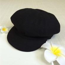Female Newsboy Caps Octagon Cap Student Beret Painter Hat Playful Cute Pure color Hats