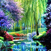 Needlework Handicraft Willows Diy Diamond Painting Landscape Diamond Embroidery Color Scenery Square Drill Home Decor Picture