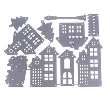 Creative Christmas House Stencil Metal Cutting Dies Cut DIY Stamp Scrapbooking Album Craft Dies Embossing Decorations Handicraft(China)