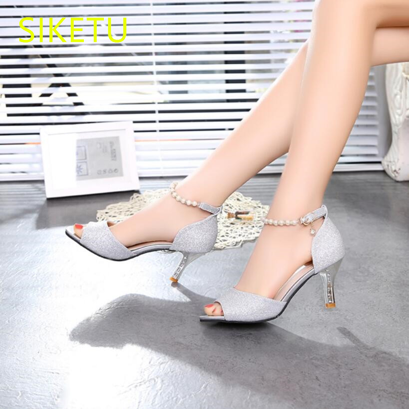 SIKETU Free shipping Spring and autumn high heels shoes waterproof  women shoes Wedding Sexy Open toe sandals pumps OL g024 siketu 2017 free shipping spring and autumn women shoes fashion sex high heels shoes red wedding shoes pumps g107