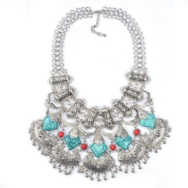 JShine Big Brand Designer Gypsy Retro Bohemian Maxi Necklace Collares Statement Tassel Necklaces & Pendants Bijoux