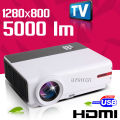 1280x800 WXGA Home Theater Cinema 1080P TV Video Digital HDMI USB LCD Video fuLL HD LED Projector Proyector Beamer Projetor