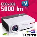 1280x800 WXGA pantalla de Cine En Casa Cine 1080 P TV LCD Video fuLL HD LED Proyector de Vídeo Digital HDMI USB Proyector Beamer Projetor