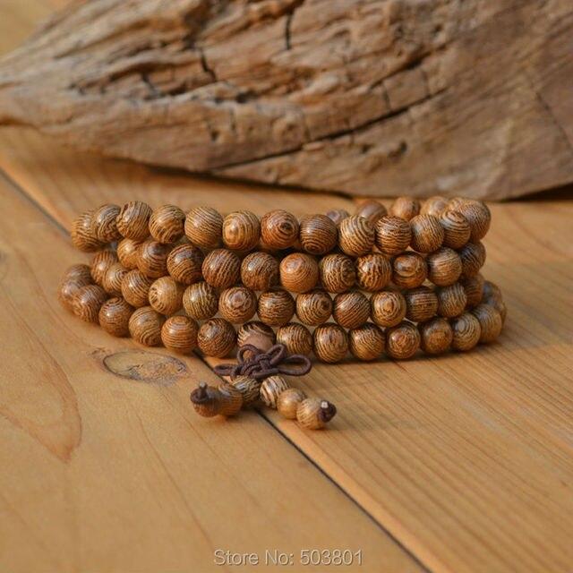 10pcs/lot, wholesale !6/8mm Chicken wing wood beads chain 108 mala prayer beads Buddhist bracelets necklace