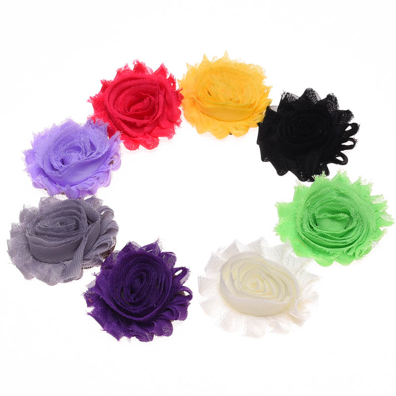 19PCS Shabby Chic Flowers Artificial Rose Flower Bouquet s Hair ...