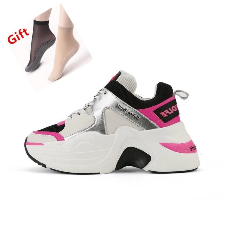 Marka luksusowe panie buty sportowe w stylu retro buty w stylu casual wiosna i jesień nowa gorąca sprzedaż grube buty z podeszwami wygodne i oddychające w Buty damskie na słupku od Buty na  Grupa 1