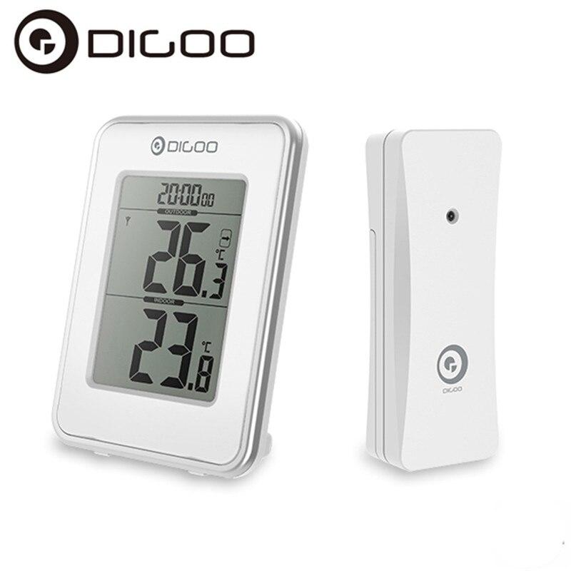 Digoo DG-TH1980 TH1980 Numérique LCD Intérieur et Extérieur Thermomètre Senor Moniteur Horloge De Bureau Pour La Maison de Sécurité Confort