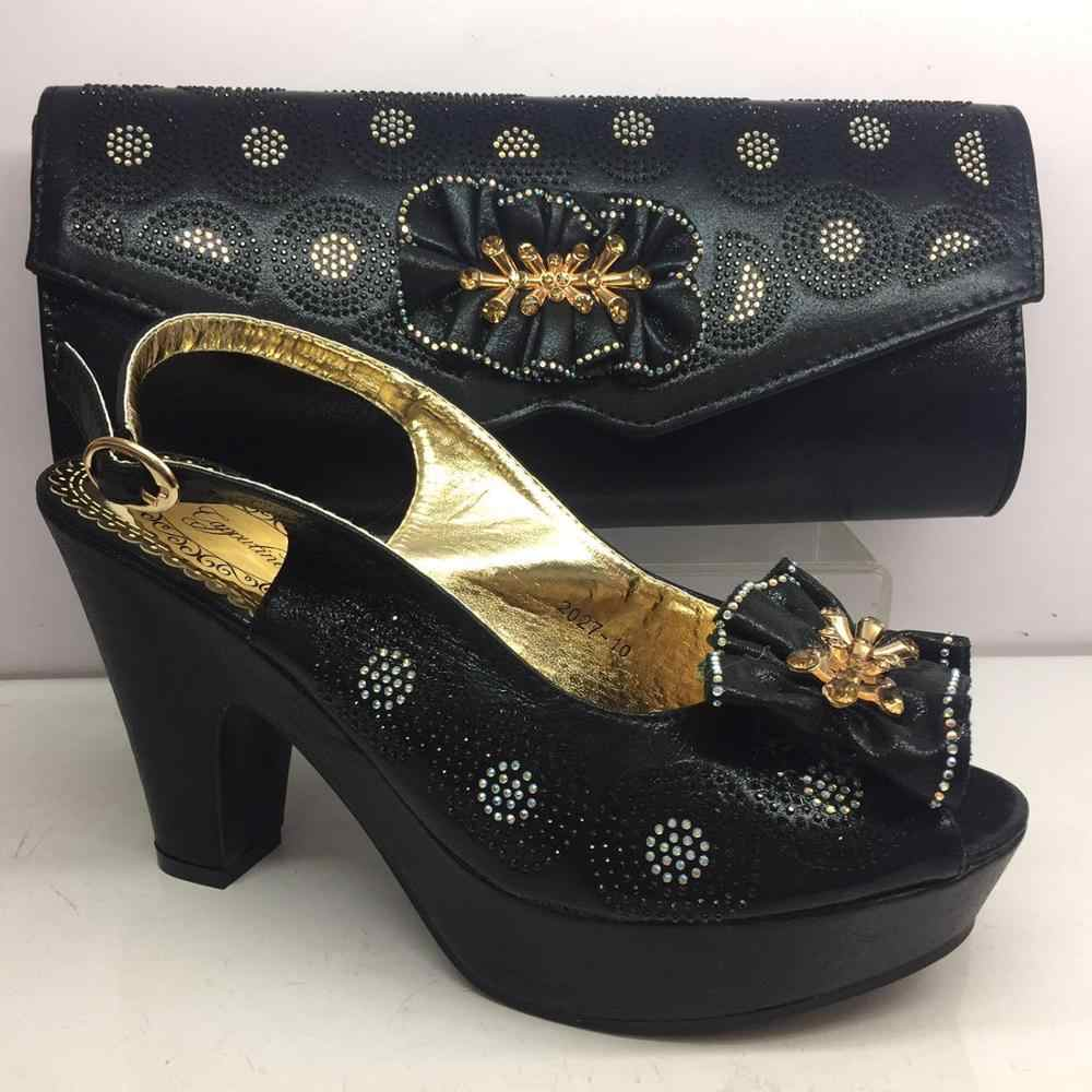 Incredibile oro Africano sandalo scarpe e set borsa di corrispondenza belle per il vestito da partito da sera GY34, altezza del tacco 8 centimetri