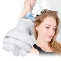 Cuoio Capelluto Massaggiatore elettrico 3D Massaggio Alla Testa artiglio Impastare vibrazione forza regolabile USB di Ricarica Prevenire La perdita dei capelli cura della Salute